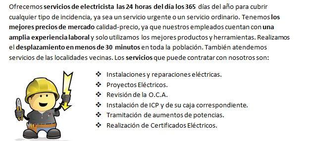 Electricistas Santaella siempre disponibles